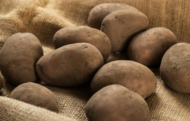 毛布にジャガイモ 無料写真