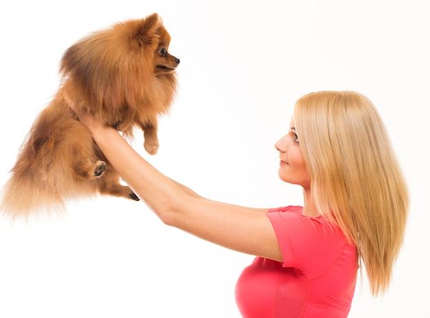 Милая женщина собаки Бесплатные Фотографии