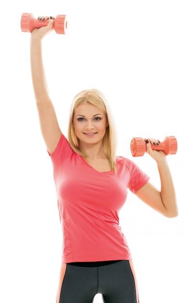 スポーツ演習を行う女性 無料写真