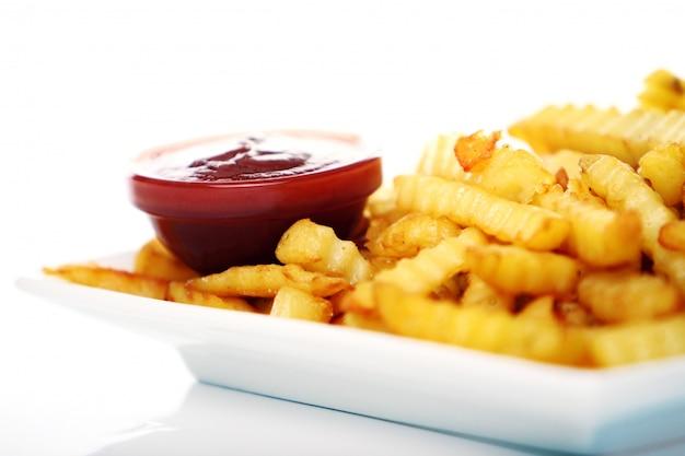 Картофель фри с кетчупом и колой Бесплатные Фотографии
