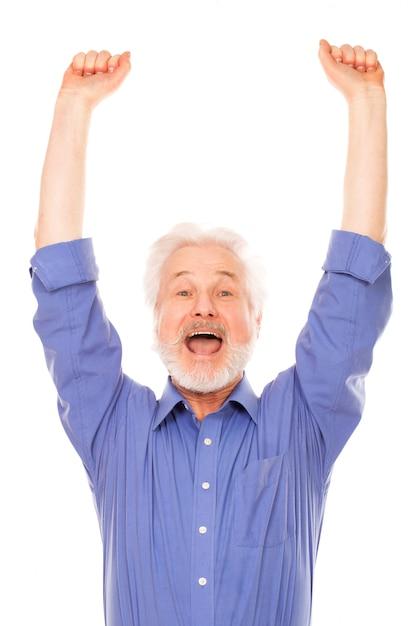ひげと幸せな老人 無料写真