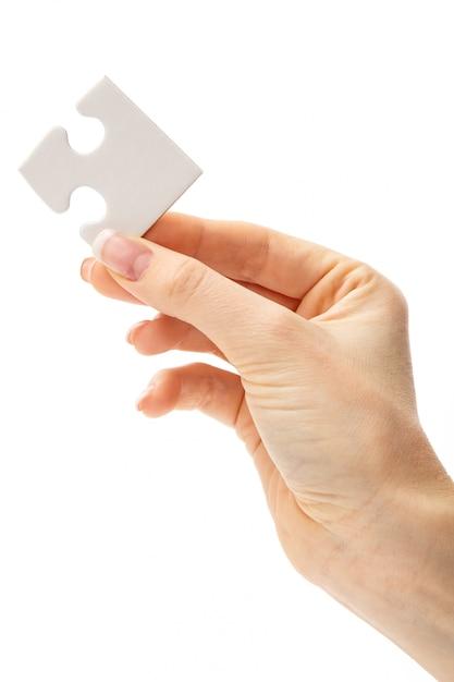 白いパズル 無料写真