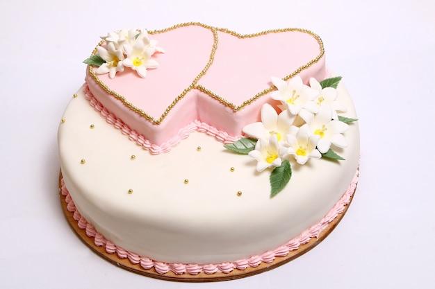 カラーフローレスのウェディングケーキ 無料写真