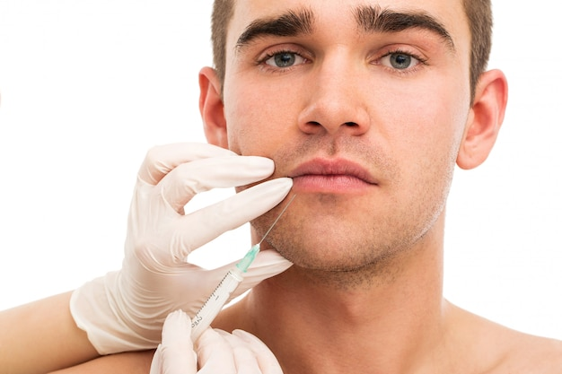 Пластическая хирургия. привлекательный, красивый мужчина Бесплатные Фотографии