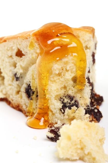 Кусок свежего торта с медом Бесплатные Фотографии