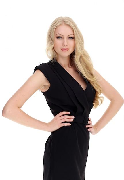 Красивая блондинка с вьющимися волосами Бесплатные Фотографии