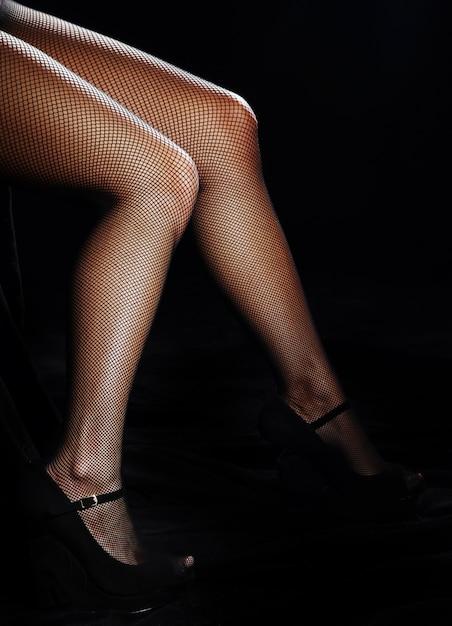 パンストで美しい女性の足 無料写真