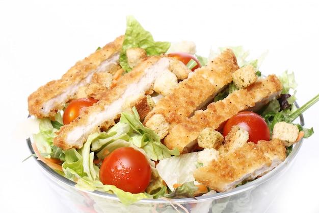 チキンと野菜のヘルシーサラダ 無料写真