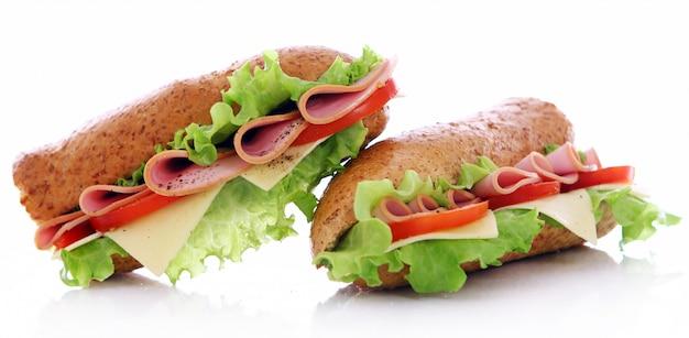 新鮮でおいしいサンドイッチ 無料写真