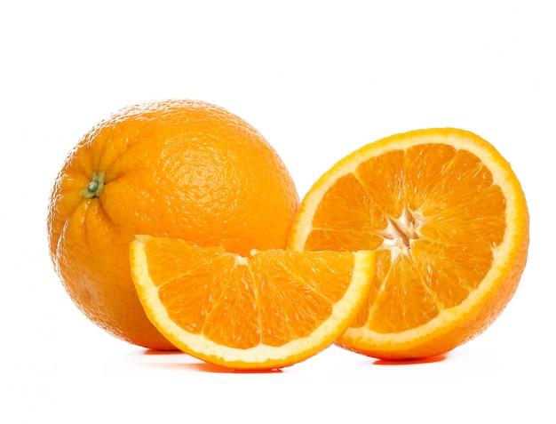 白地にオレンジ 無料写真