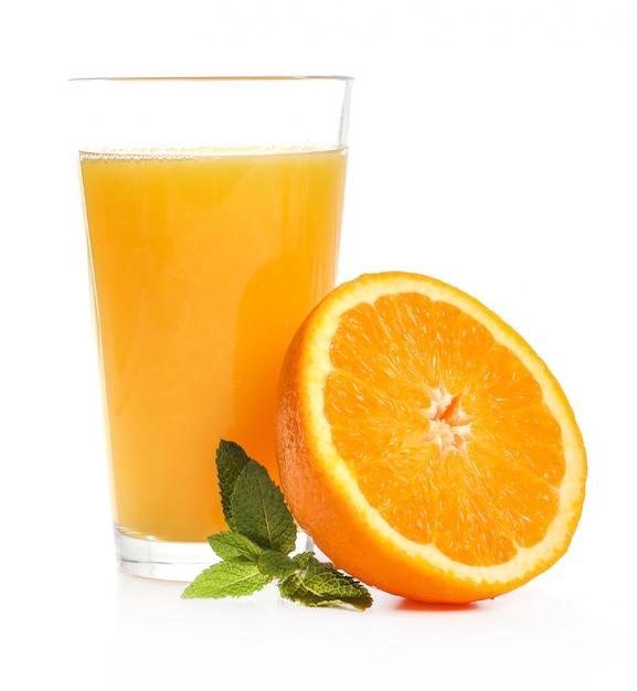 オレンジジュースのおいしいガラス 無料写真
