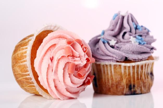 休日のカップケーキ 無料写真