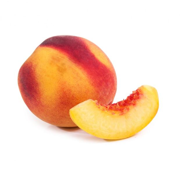 テーブルの上の桃 無料写真