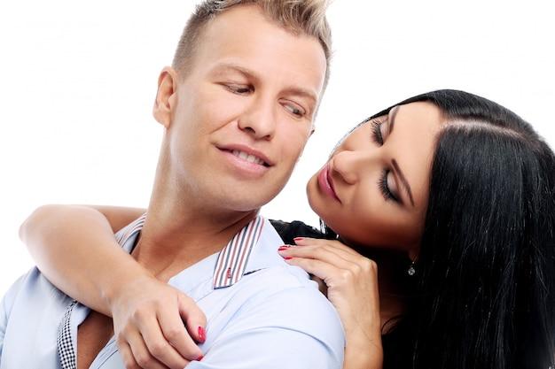 Сладкая и сексуальная пара, фотосессия в студии Бесплатные Фотографии