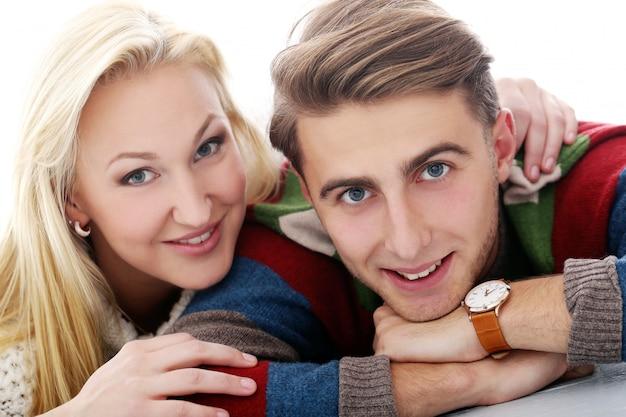 かわいいカップルはお互いに恋している 無料写真