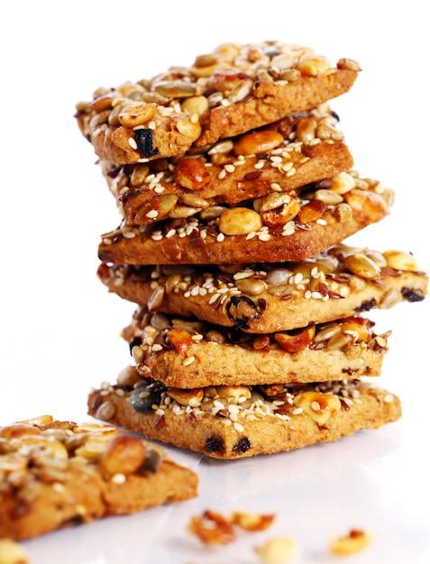 さまざまな成分のクッキー 無料写真