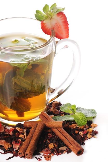 Фруктовый чай с клубникой Бесплатные Фотографии