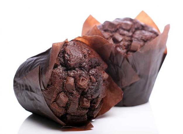 チョコレートカップケーキ 無料写真