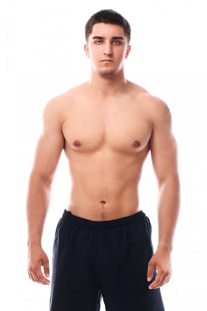 筋肉男のポーズ 無料写真