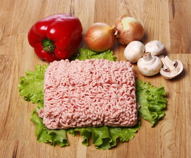 ミンチ肉と野菜 無料写真