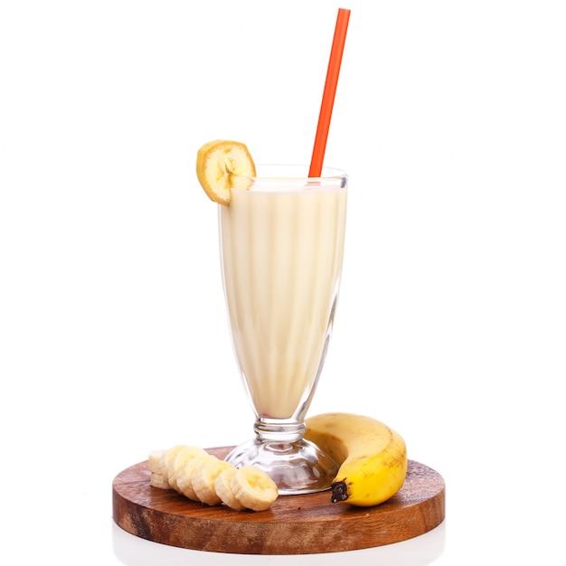 Вкусный банановый молочный коктейль Бесплатные Фотографии