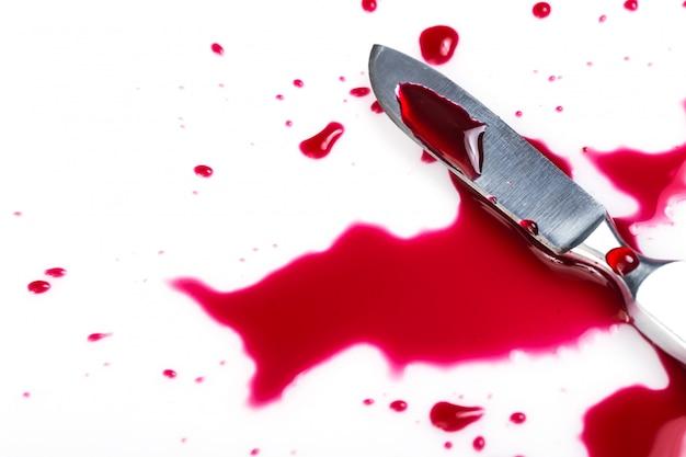 血のナイフ 無料写真