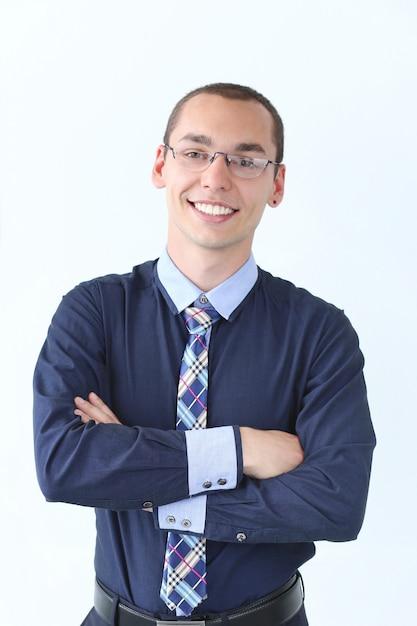 オフィス。仕事で幸せな男 無料写真