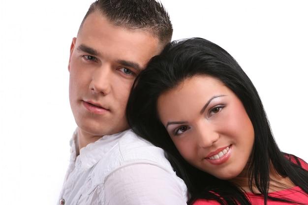 Молодая и привлекательная счастливая пара Бесплатные Фотографии