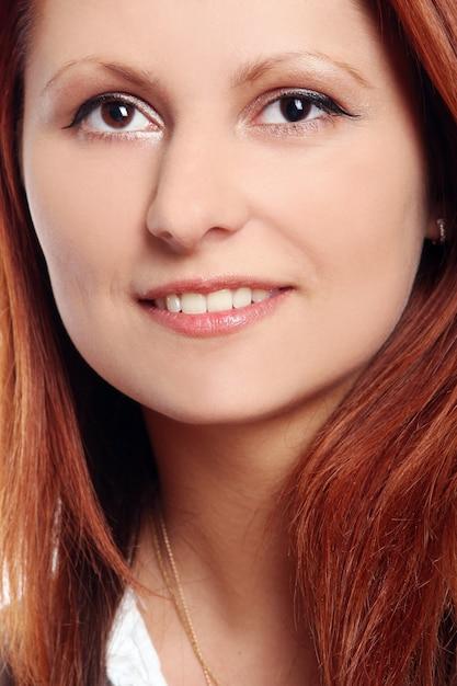 白の美しい若い、セクシーな女の子 無料写真