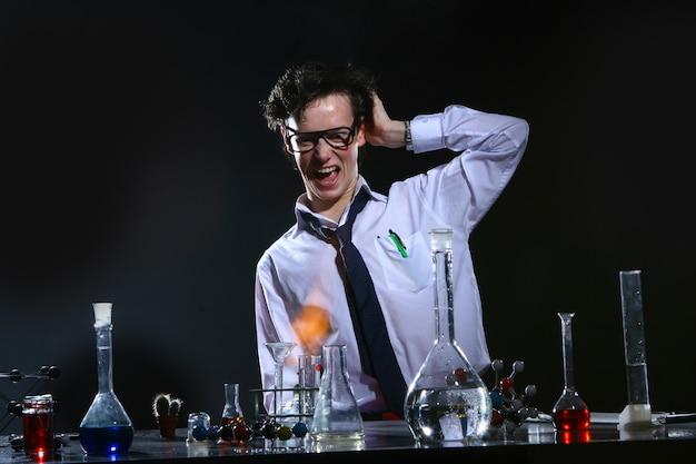 科学実験化学実験 無料写真