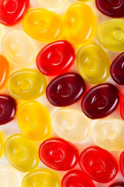 Желейные конфеты на белом Бесплатные Фотографии
