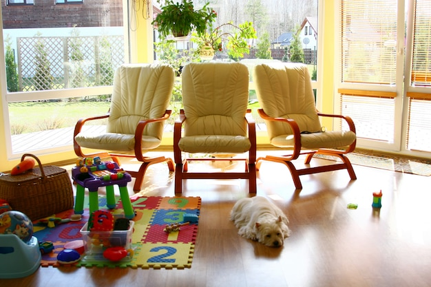 夏の家のインテリア 無料写真