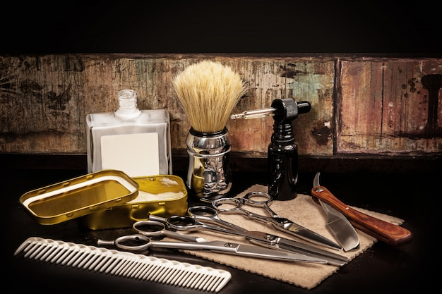 Различное оборудование в парикмахерской Premium Фотографии