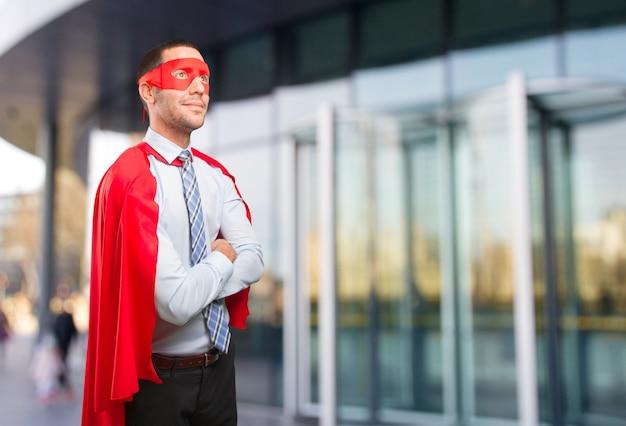 探している自信を持ってスーパービジネスマン Premium写真