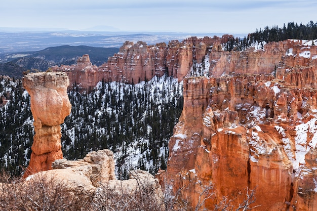 Скала пейзаж и худу называется охотник в брайс-каньон, штат юта Premium Фотографии