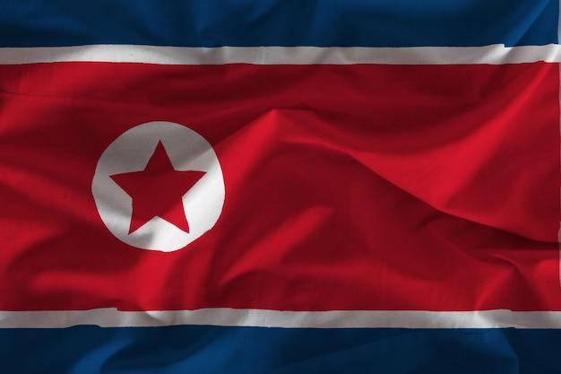 ファブリック北朝鮮旗 Premium写真