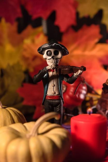 Мужской череп катрины день мертвых праздник Premium Фотографии