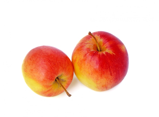 Свежие яблоки краб изолированные Premium Фотографии