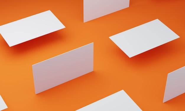 Оранжевый пол и визитная карточка Premium Фотографии