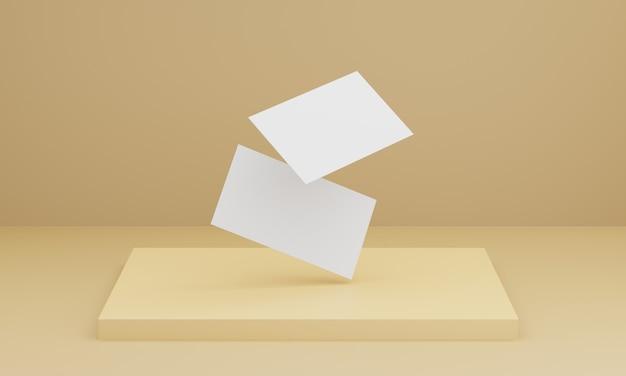 Мягкая желтая визитка Premium Фотографии