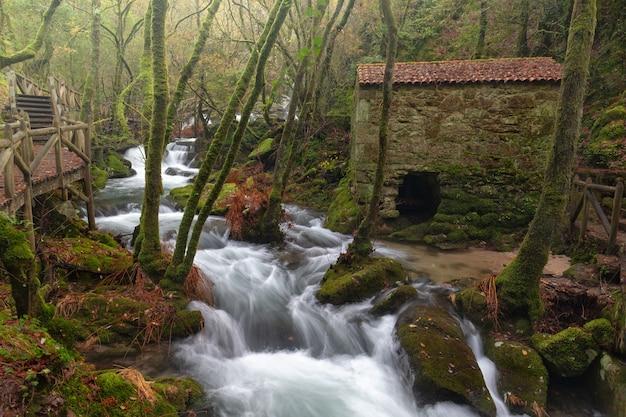 バルガ川は、スペインのガリシア州ポンテベドラ県の川です。 Premium写真