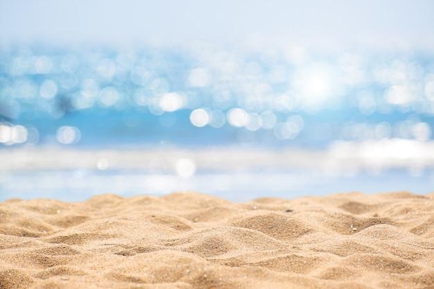 海の抽象的なビーチの背景。 Premium写真