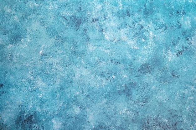 テクスチャの空白グランジコンクリート壁青い海の色塗料。ビンテージ背景 Premium写真
