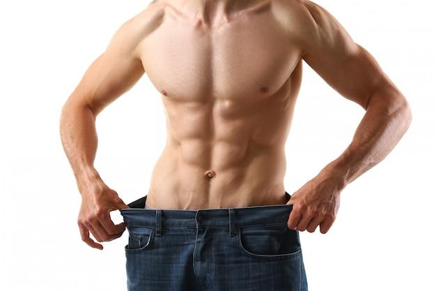 Атлетик сложенный мужчина для похудения тема очень Premium Фотографии