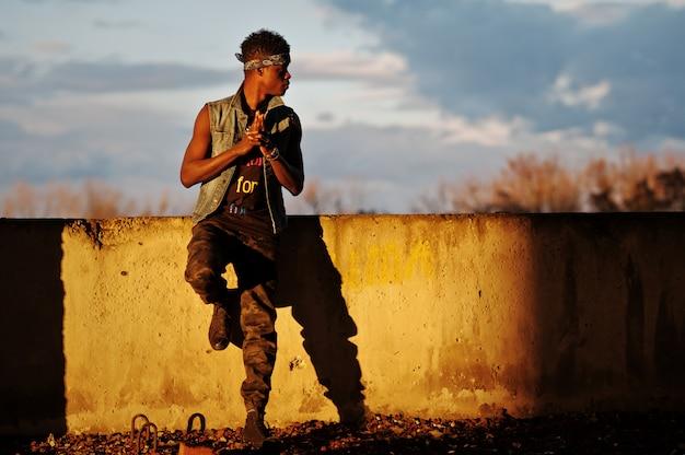 Афроамериканский негр Premium Фотографии
