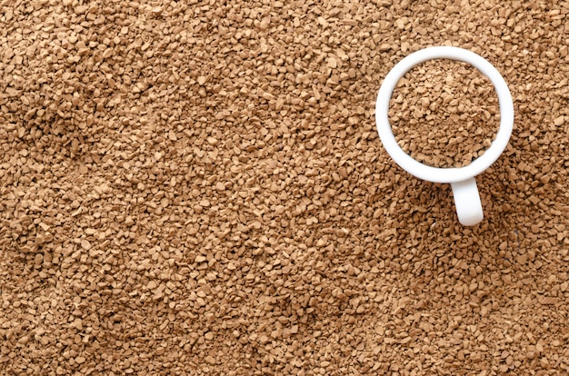 Текстура растворимого кофе с чайкой. Premium Фотографии