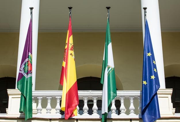 スペイン、マラガの市庁舎宮殿 Premium写真
