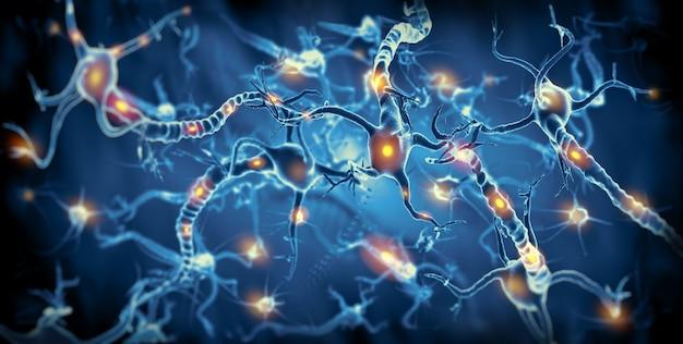Активные нервные клетки Premium Фотографии