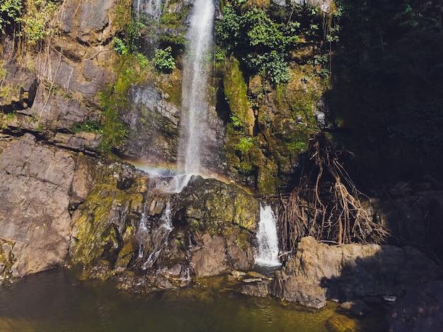 タムナン滝、スリパンガー国立公園、タクアパ地区、パンガー、タイ。 Premium写真