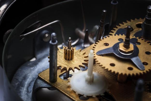 Макро вид часового механизма Бесплатные Фотографии